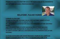 Stage Allenatori. Fulvio Fiorin relatore a L'Aquila