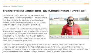 Eccellenza. Martinsicuro: quattro anni tra calcio ed emozioni