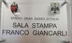 L'Aquila, inaugurata la sala stampa 'Franco Giancarli'