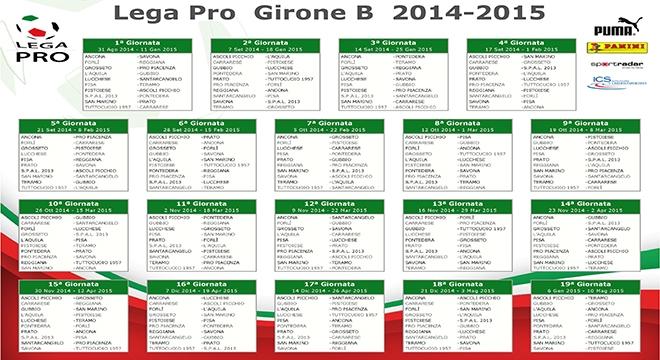 Lega Pro Calendario Girone B.Lega Pro Il Calendario Completo Del Girone B Altre