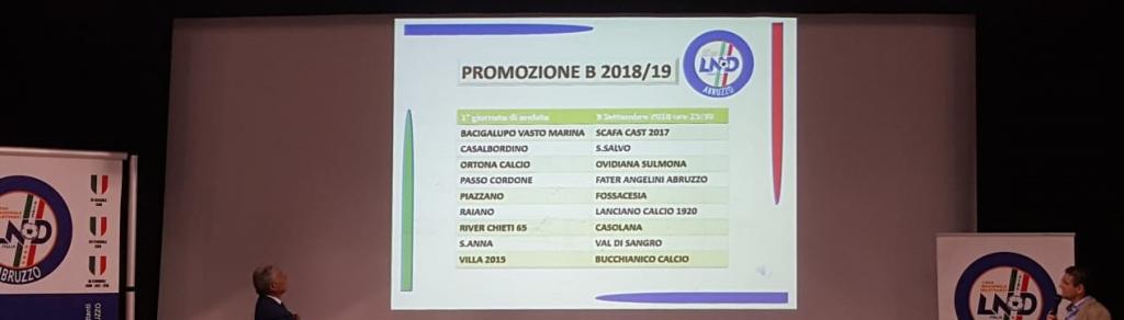 Calendario Promozione Abruzzo.Promozione B Ecco Le Prime Giornate Del Calendario